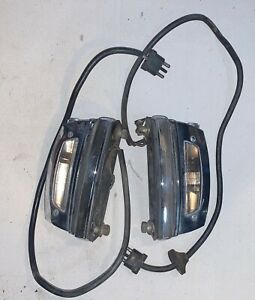 Set of License Plate Lights off 1970 Mercedes Benz 300SEL W109 W108   —S3–