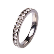 500pcs Rhinestone Clear Stainless Steel Rings Wholesale Fashion Jewelry Lots