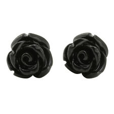 Handcrafted Assorted Colors Rose Flower earring Studs, Stainless Steel earring