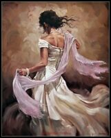 Scarf Dancer - Chart Counted Cross Stitch Patterns Needlework DIY DMC Color