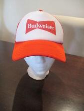 Retro Budweiser Beer Mesh Trucker Hat Snapback Cap