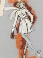 "Edith Head (5) costume sketches of Susan Clark as ""Dr. Markham"" in C... Lot 1181"