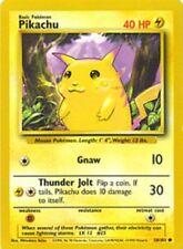 Pikachu - 58/102 - Common - Unlimited Edition, Light Play Pokemon