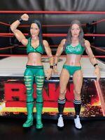 WWE WRESTLING FIGURES MATTEL BELLA TWINS NIKKI AND BRIE DIVA