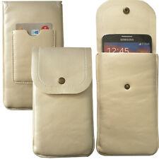 XL Soft Slim Cover Case Schutz Hülle Etui Pull Tasche für M-Horse Power 2 GOLD