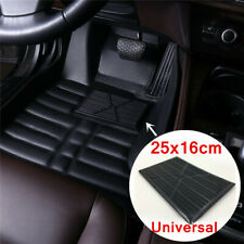 Universal Black PVC Custom Floor Mat Carpet Heel Pads Cover 25x16cm For Car SUV