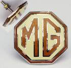 MG Cream and Brown Grille Badge for MGTC & MGTD, AJJ118