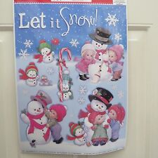 "Window Clings - ""Let it Snow"" Children & Snowman"