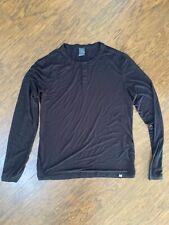 Cory Vines Men Henley Shirt Black Large