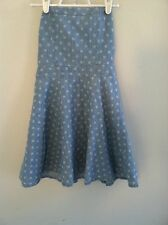 Abercrombie & Fitch Kids size XL blue white polka dot dress strapless girls and