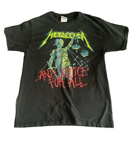 Vtg 2007 Metallica And Justice For All Concert T-Shirt Black Size M