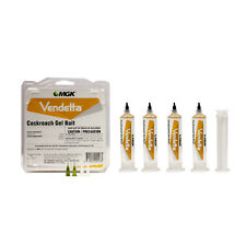 Vendetta Cockroach Killer Gel Bait (4 Tubes +Plunger + Tips ) Roach Killer Bait