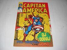 CAPITAN AMERICA NUMERO 50 CON ADESIVI EDITORIALE CORNO 1975 GADGET BELLO!