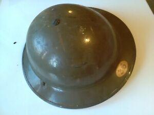 WW1 BRITISH ARMY STEEL TRENCH HELMET CIRCA 1916  36th INFANTRY REGIMENT . WW2 ?