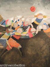 """Graciela Rodo Boulanger """"Juego de Domingo"""" Original Etching Artwork"""