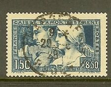 """FRANCE STAMP TIMBRE N° 252c """" LE TRAVAIL BLEU-VERT TYPE III """" OBLITERE TB SIGNE"""