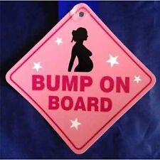 Bump On Board Pregnant Lady Baby On Board Diamond Hanger
