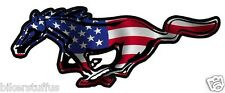 MUSTANG AMERICAN HORSE FLAG STICKER BUMPER STICKER LAPTOP STICKER WINDOW STICKER
