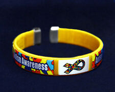 Autism Awareness Fabric Bangle Bracelet - Child Size (RETAIL)