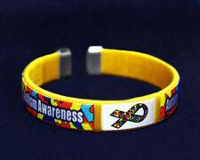 Autism Awareness Fabric Bangle Bracelet - Child Size (RETAIL)