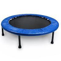 "Crown Sporting Goods New 38"" Blue Mini Fun Rebounder Trampoline"