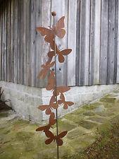 Edelrost Schmetterling Gartenstecker Deko Rost Eisen Garten Stab Stecker Metall