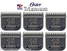 6 Oster A5 ELITE TITANIUM CryogenX Clipper 15 Blade Pet Horse*LAST 3 Time LONGER