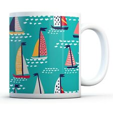Colorful Sailing Boats - Drinks Mug Cup Kitchen Birthday Office Fun Gift #8349