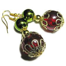 Gold Tone Christmas Ball Earrings By SoniaMcD