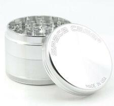 More details for silver space case herb grinder 63mm uk seller 4-piece large spacecase