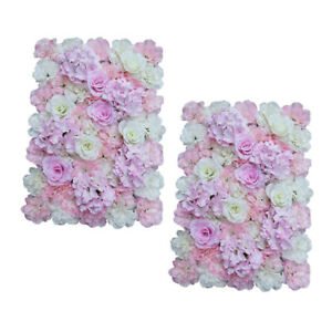 2Pcs Hydrangea Flower Wall Panels Decorative Background Photography Props