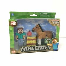 Minecraft Series #2 Overworld Steve and Horse Fully Articulated Figure Set New