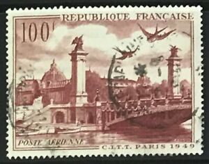 France #YPA28 Used CV€7.00 1949 Alexander III Bridge Petit Palais Paris [C28]