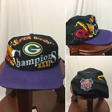 90s VTG Green Bay Packers Logo 7 Athletic SnapBack Hat Cap Super Bowl  Champions 483762dee