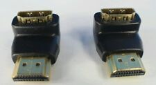 Set of 2 HDMI Elbow,Up/Down Angle 90degree Plug/Male~Female/Jack cable adaptors