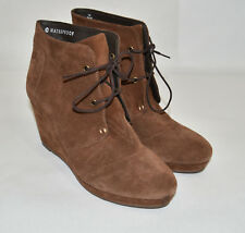 New! Blondo Paige Waterproof Wedge Bootie Lace up Brown Suede Platform Size 7.5