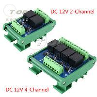 2/4Channels Optocoupler Lsolation Relay Module 12V PLC Signal Amplifier L2KE