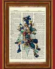 Kingdom Hearts Dictionary Art Print Poster Picture Game Donald Goofy Sora Roxas