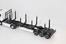 1:87 Herpa EM3333 3achs Holz Auflieger grau/schwarz für Hängerzug Umbau Eigenbau