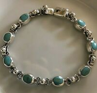 925 Sterling silver blue bracelet from Taxco 14 g