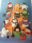 KNITTING PATTERN Jean Greenhowe 12 Witty Knits Toys Witch Ghost Santa Cowboy