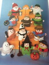 KNITTING PATTERN Jean Greenhowe 12 Witty Knit Toys Witch Ghost Santa Cowboy RARE