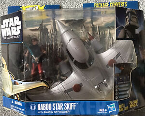 NEW STAR WARS The Clone Wars Naboo Star Skiff INCLUDING Anakin Skywalker Figure!