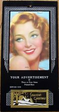 Art Deco 1940 Pinup Calendar w/Woman, 'Joyce' - Salesmen's Sample