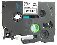 1 Compatible for Brother P-Touch TZE TZe-231 TZ 231 Label Tape - 12mm (BK+White)