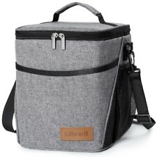 9L Insulated Lunch Bag For Women Men Thermos Cooler Adults Tote Food Lunch Box