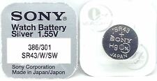 SONY 386 SR43W V386 D386 260 H 280-41 SB-B8 SR1142W SR43 WATCH BATTERY