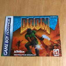 Nintendo Gameboy Advance Manual - Doom