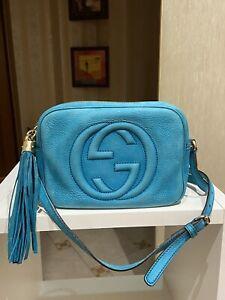 100% Authentic Gucci Soho Disco crossbody Bag tassel USED BAD CONDITION