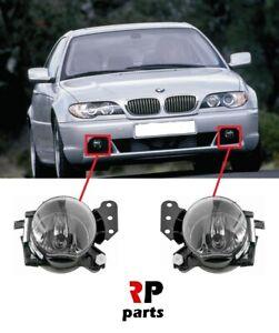 FOR BMW 3 E46 COUPE CABRIO 2003 - 2006 NEW FRONT BUMPER FOGLIGHT LAMP PAIR SET